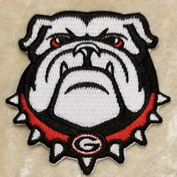 University of Georgia Bulldogs quot;Ugaquot; Iron On Embroidered Patch FREE Ship