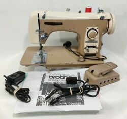 Vintage Brother Electro Grand Sewing Machine, Bobbin, Pedal, And Paperwork