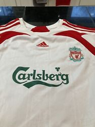 Womens Liverpool Fc Adidas Short Sleeve Away Jersey White/red Small S