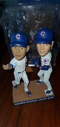 2017 Chicago Cubs Javier Baez Addison Russell Turning Two Bobblehead 7/5/17 Sga