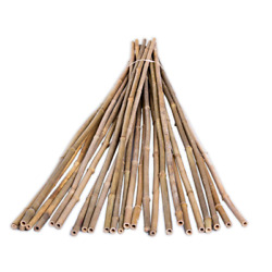 Natural Bamboo Pole Plant Stake Support Garden Fencing 25-pack 1/2 In. X 6 Ft.