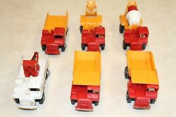 Vintage Toy Kab Trucking Co 2 Cement Mixer 2 Dump Truck 1 Log Truck 1 Tow Truck