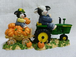 Mary's Moo Moos John Deere The Deerest Harvest Of Them All Tractor Cow