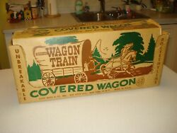 1960 Wagon Train Covered Wagon Toy W/box By Marx, Tv Show Related