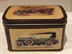 Keller Charles Of Philadelphia Tin With Pictures Of Antique Cars