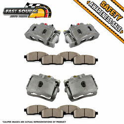 For 2009 2010 2011 - 2013 Chevy Express 1500 Front And Rear Brake Calipers Pads