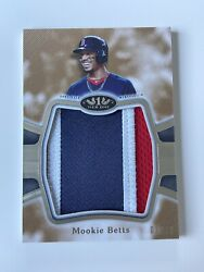 2020 Mookie Betts Topps Tier One 1 Prodigious Patch Jersey Relic 3/10 Sp Redsox