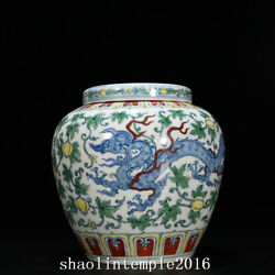 China The Ming Dynasty Fighting Colors Melon And Fruit Dragon Pattern Pot