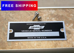 Chevrolet Chevy Data Plate Id Tag Hot Rod Rat Rod Street Hot RoД
