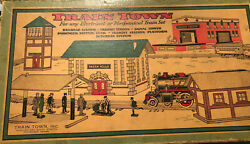 Vintage Toy Train Buildings Set Train Town Electrical And Mech. Railroad Rare