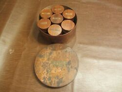Antique 1800s Spices Spice Box 8w3.5t Wood Canister And 7 Smaller Canister Boxes