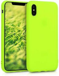 Neon Yellow Tpu Silicone Case For Apple Iphone Xs Soft Flexible Protective