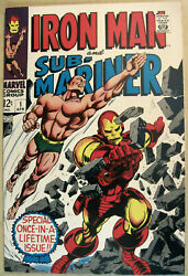 Iron Man And Sub-mariner 1 April 1968 1st One Shot Colan Cover/art Key 9.6 Nm+.