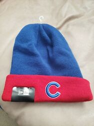 Chicago Cubs New Era Blue / Red Winter Hat New With Tags