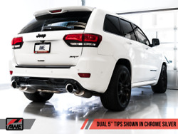 Awe Tuning Exhaust - Chrome Silver Tips For 2020 Jeep Grand Cherokee Srt Track E