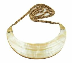 Handmade Shell Necklace 18ct Yellow Gold Caps Womenand039s Tribal Ethnic Jewellery