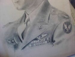 Original Wwii 1944 Portrait Of Avg Flying Tigers Triple Ace