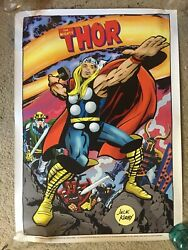 Jack Kirby Marvlemania Reproduction Poster Lot Ff Thor Silver Surfer Dr Doom