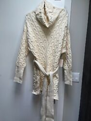 Nwt Free People Ivory Team Cowl Long Oversized Tunic Sweater Sz M Retail 168