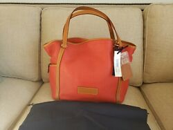 NWT Dooney amp; Bourke Red Leather Medium Tote PZ794 RD QVC EXCLUSIVE $150.00