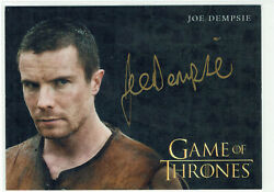 Game Of Thrones Inflexions 2019 Autograph Card Joe Dempsie As Gendry Gold