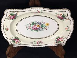 Johnson Brothers Bros Old English 10 1/2 Sandwich Tray Snack Platter Scalloped