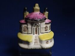 Antique Staffordshire 3 Chimneys Early Hollow Bottom Tiny Cottage Fine Condition