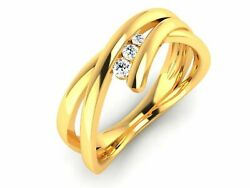 22k Ring Solid Gold Ladies Jewelry Modern Twist Band Cgr39