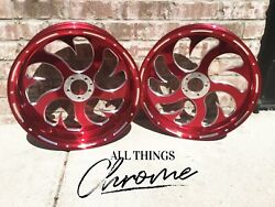 Cbr1000rr Stock Size Red Contrast Shark Tooth Wheels 2008-2011 Cbr1000rr