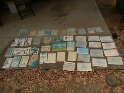 Lot Of 49 Vintage National Geographic Maps Africa Europe Civil War Good Cond