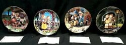 M.j. Hummel Collector Plates Lot Of 4 With Coa