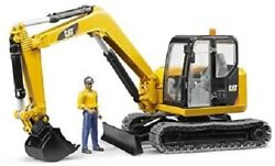 Bruder Cat Mini Excavator With Operator 116 Scale Model Toy Christmas Gift