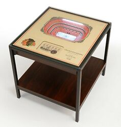 Nhl | 3d Stadium View | Lighted End Table | Wood |choose Your Team