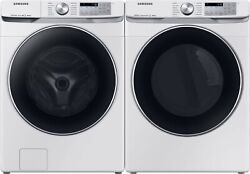 Samsung Wf45r6300aw Washer And Dvg45r6300w Gas Dryer Side-by Side White