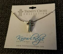 Trinity Cross Collection December Birthstone Christian Necklace $7.99
