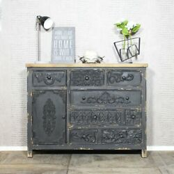 Handicraft Antique Finish Sideboard Black For Home And Office Furniture