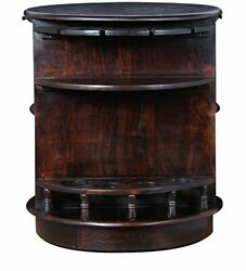 Handicraft Wood French Bar Cabinet Walnut For Home Office Furniture