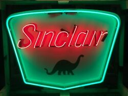 Approx 3ft X 2ft Sinclair Dino Neon Sign / Sinclair Gas / Sinclair Neon Sign