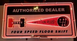 Hurst Dealer Neon Sign Full Canned 48 X 24 Gas And Oil Freight Shipping