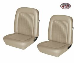 1968 Mustang Convertible Front/rear Seat Upholstery And Headrest Covers Parchment