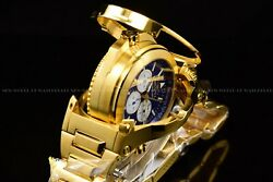 Invicta Men 54mm Reserve Transatlantic Flip Dial Gold and Blue Chrono Gold Watch $273.99