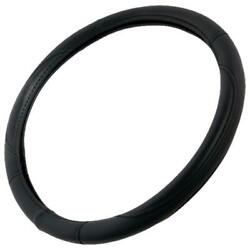 Performance Leather Grip Steering Wheel Cover Wrap Standard Size 14.5-15.5
