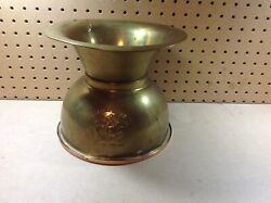 Vintage Pony Express Chewing Tabacco Cut Plug Spittoon Brass/copper