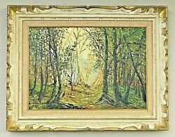Landscape Forest Nature Oil Painting By Otto Rut Canadian 1910-2005 On Canvas