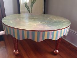 Mackenzie Childs Hand-painted Coffee Table - Free Delivery