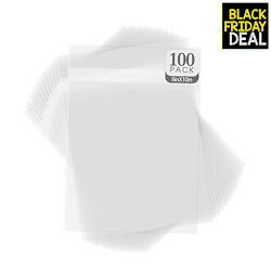 Golden State Art Pack Of 100 Acid-free Crystal Clear Sleeves Storage Bags For