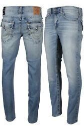 True Religion Rocco Big T With Flap Menandrsquos Skinny Jeans In Light Blue 104403 Hgrl