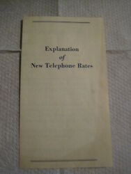 1958 Telephone Rates- New England Telephone And Telegraph Company