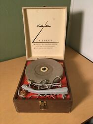 Vintage Silvertone 4 Speed Automatic Record Player Tube Turntable Model 250