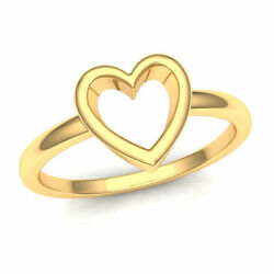 22k Ring Solid Yellow Gold Ladies Jewelry Modern Heart Pattern Cgr7